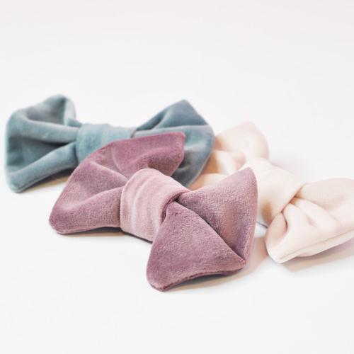 Velvet Dog Bow Tie
